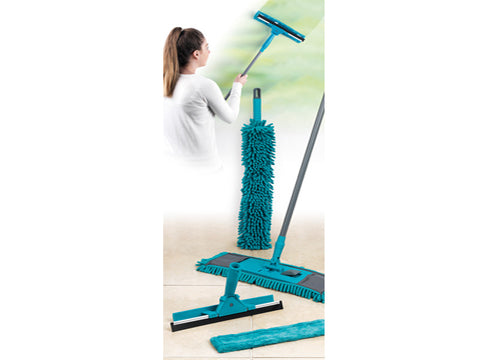 Beldray 7 Piece Turquoise Duster and Mop Cleaning Set