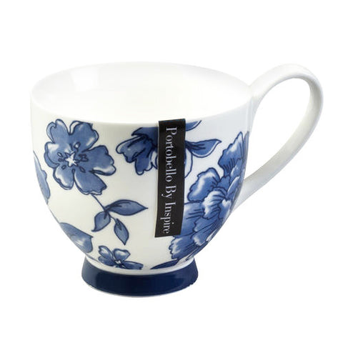 Portabello Fine Bone China Perla Footed Mug