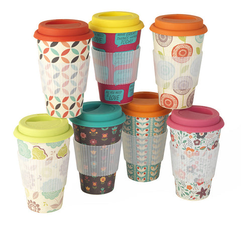 Bamboo Thermal Insulated 'Coffee' Travel Mug