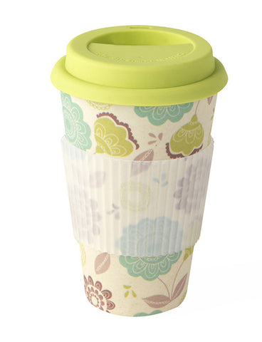 Bamboo Thermal Insulated Decorative Travel Mug