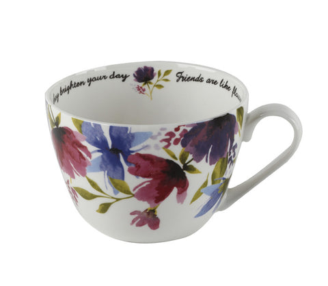 Portobello Friends And Flowers Bone China Mug