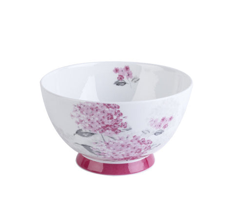 Portobello Fine Bone China Amy Pink Footed Bowl