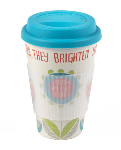 Bamboo Thermal Insulated 'Friends' Travel Mug
