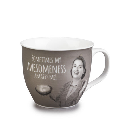 Bone China 'My Awesomeness' Portobello Mug