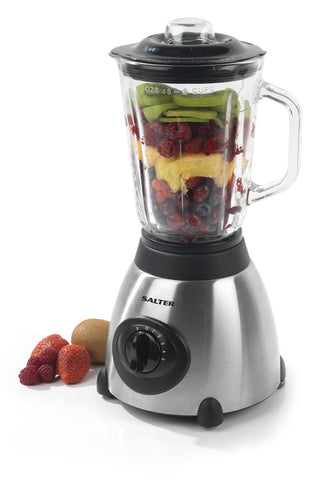 Salter 5 Speed Blender Silver 1.5 Litre 500W