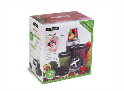 Prolectrix Black And Silver 900 Watt Nutri Go Blender
