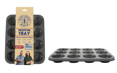 Hairy Bikers Official Bakeware 12 Cup Muffin Tray Cupcake Tin
