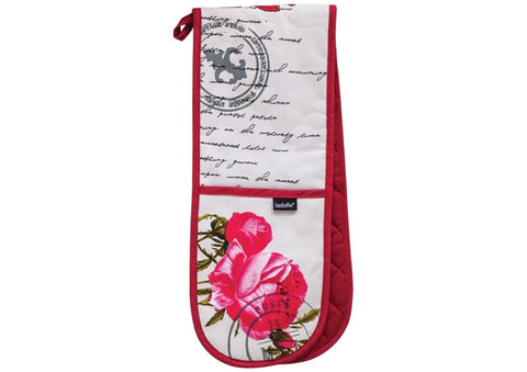 Postcards Double Oven Mitt