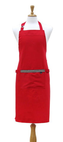 Professional Chef Kitchen Apron Red