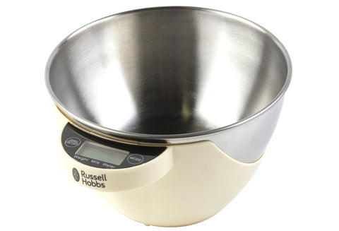 Russell Hobbs 1.5 litre Cream Digital Bowl Scale