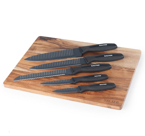 Salter Elegance Knives With Chopping Board