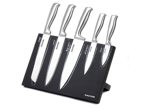 Salter Serenity 5pc Magnetic Knife Block Set