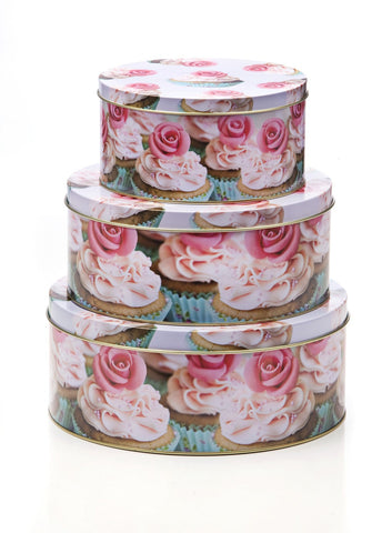 Cupcake Tin Storage Set of 3