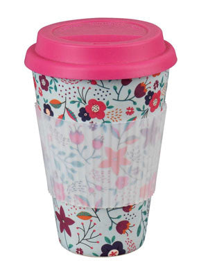 Flower Power Thermal Travel Mug