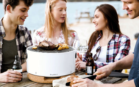 Portable Table BBQ in White