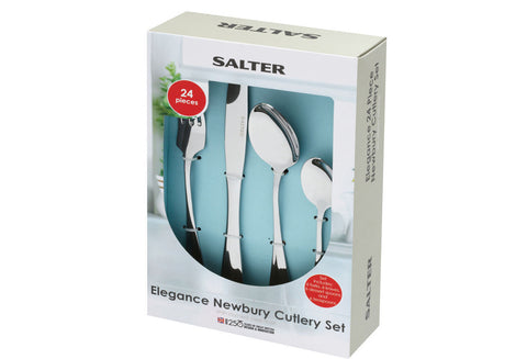 Salter Elegance Newbury 24 Piece Stainless Steel Kitchen Cutlery Set
