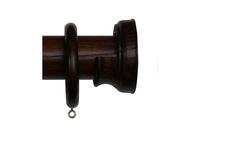 40mm Curtain Pole Sample in Mahogany with Radley Finial
