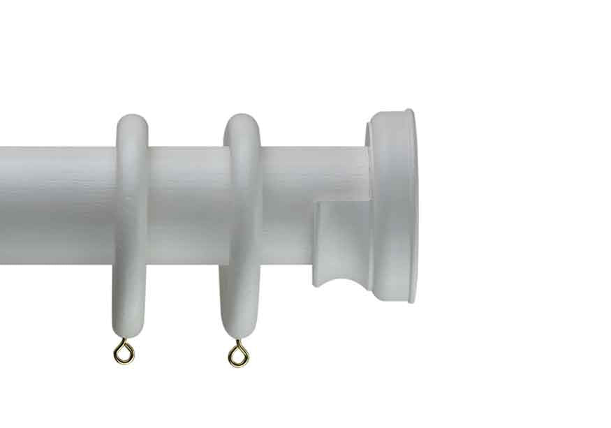 White curtain pole Radley recess bracket