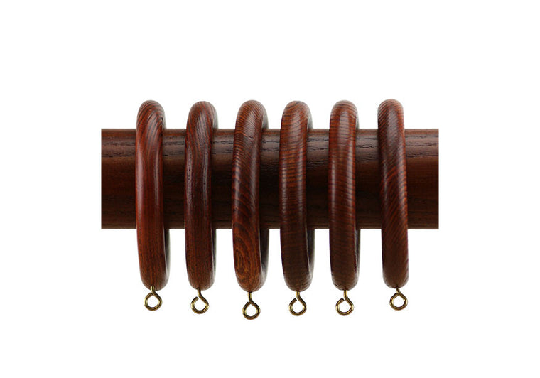 Wood Curtain Rings  in Cherry