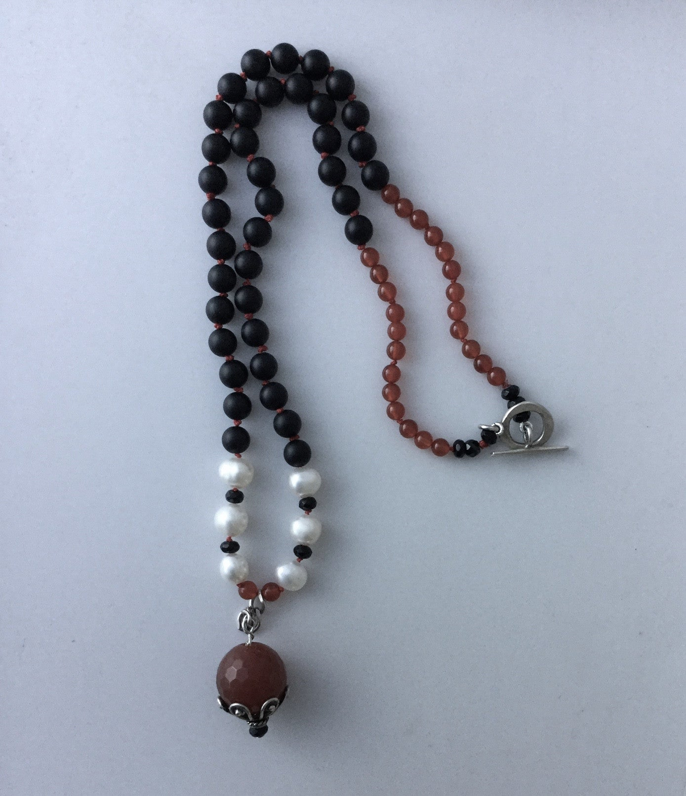 Necklace Carnelian Onyx