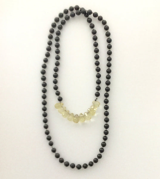 Necklace Onyx and Citrine