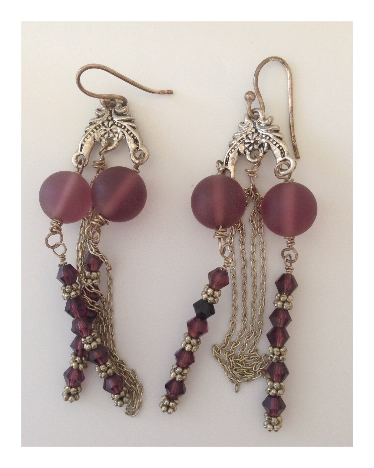 Earrings Violet Waterfall