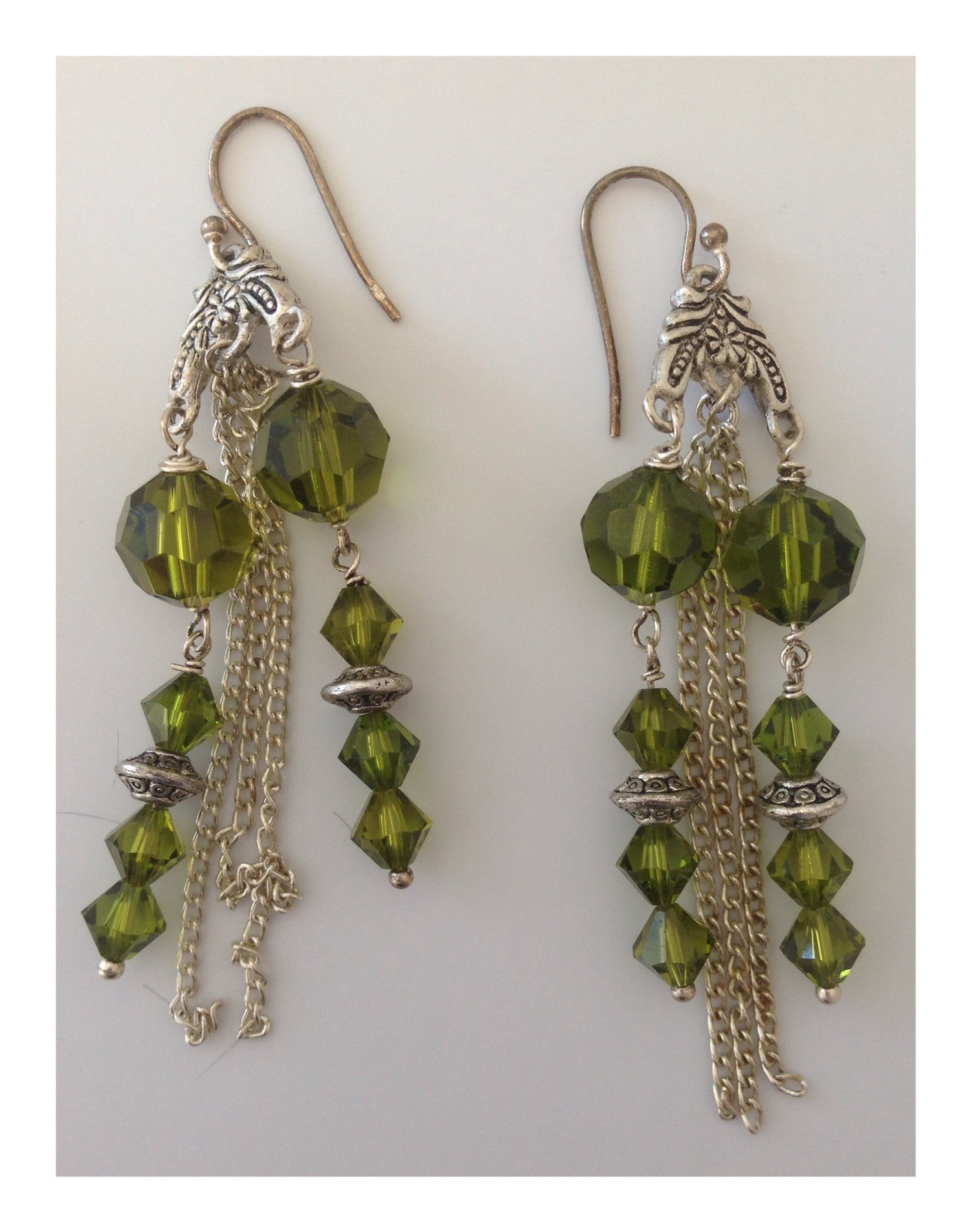 Earrings Emerald Waterfall