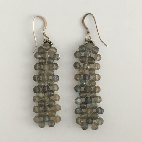 Earrings - Labradorite gems  RAW