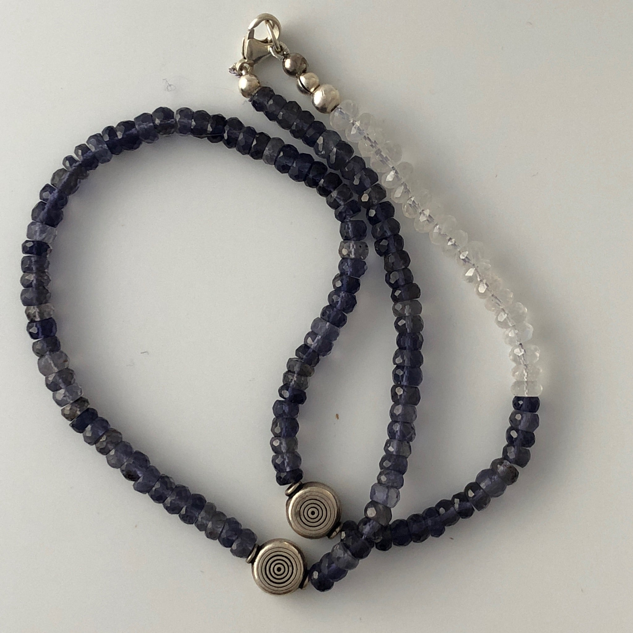 necklace and long iolite pearl purple blue two product collage charities strand lavender