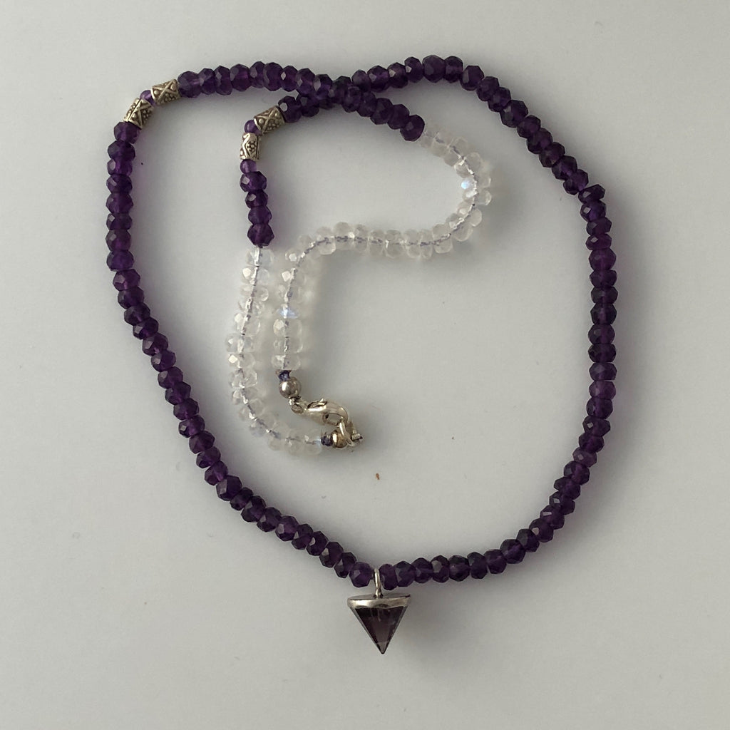 Gems - Moonstone Amethyst Necklace