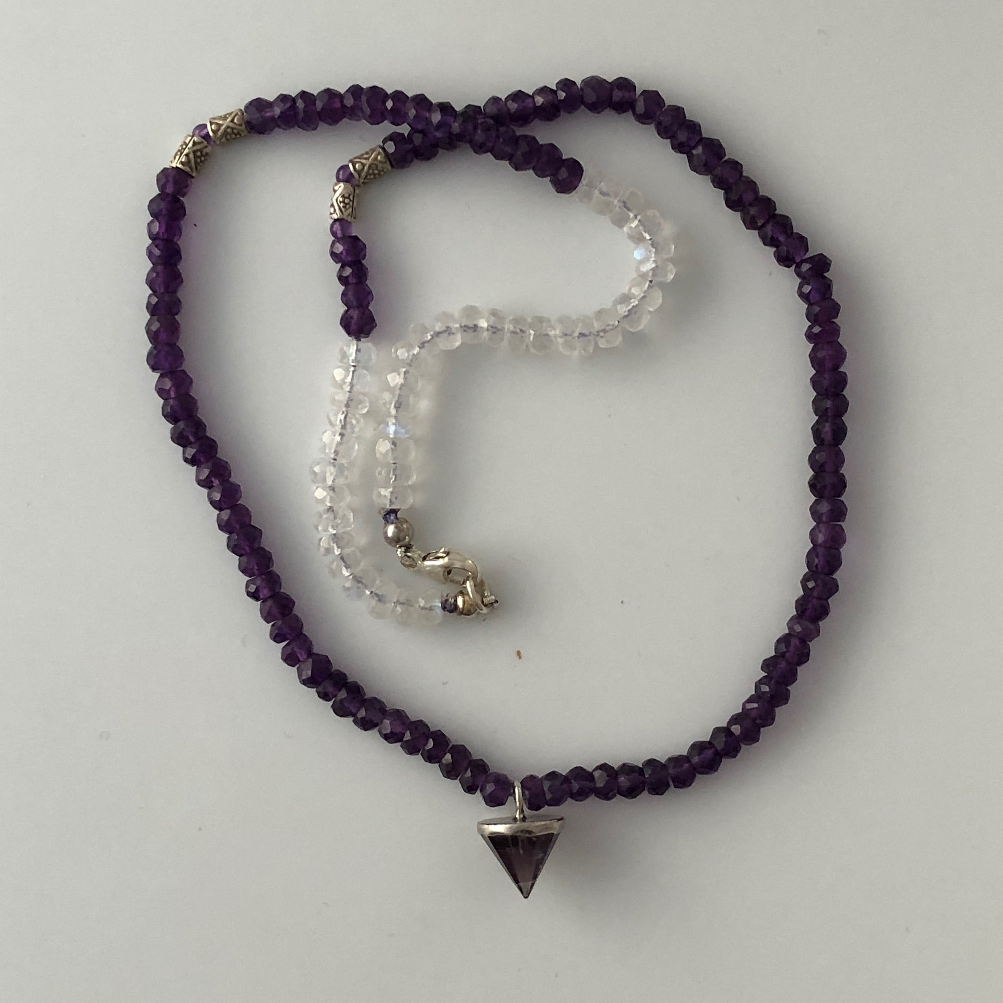 Vivian Amethyst Moonstone Necklace