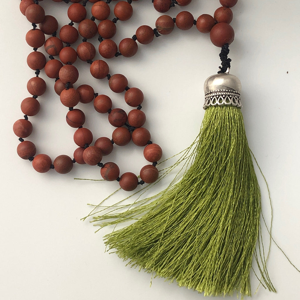 Marg Jasper Mala Necklace