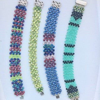 Trendy Glass Crystal Bracelets