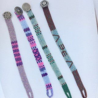 Bracelets Peyote with Button Clasps