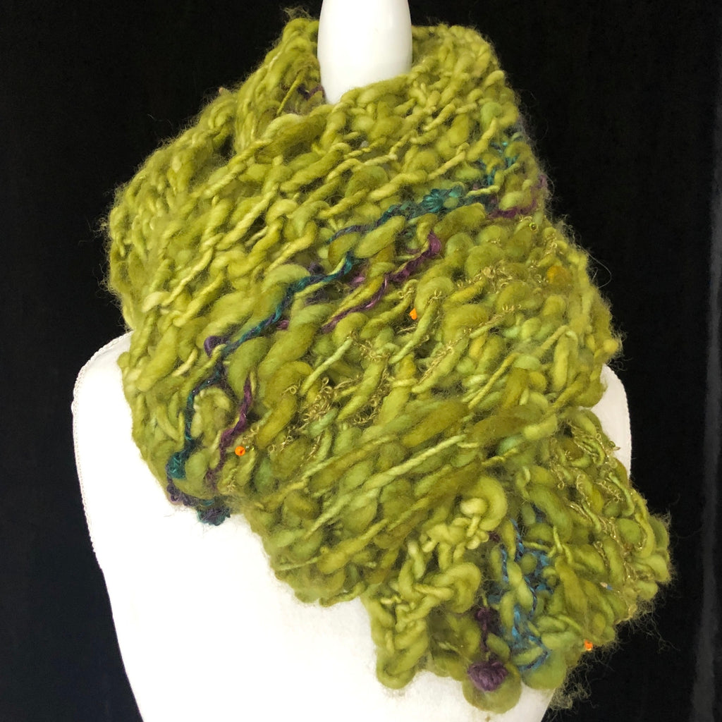 Jasmine Knit Scarf Green