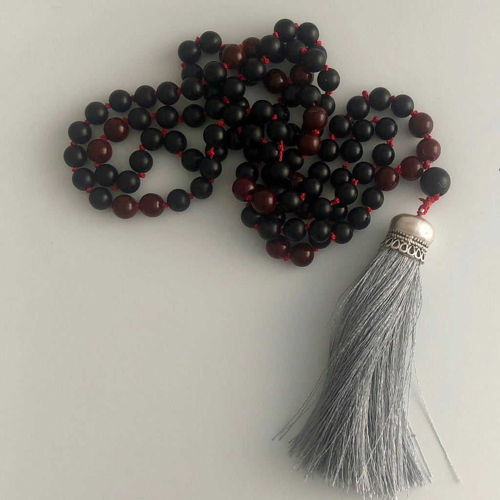 Marlyn Onyx Mala Necklace