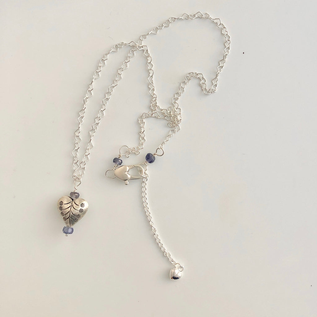 Heart Lolite Necklace