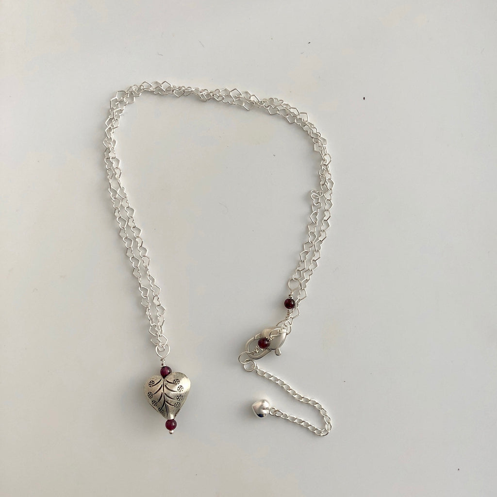 Garnet Heat Necklace