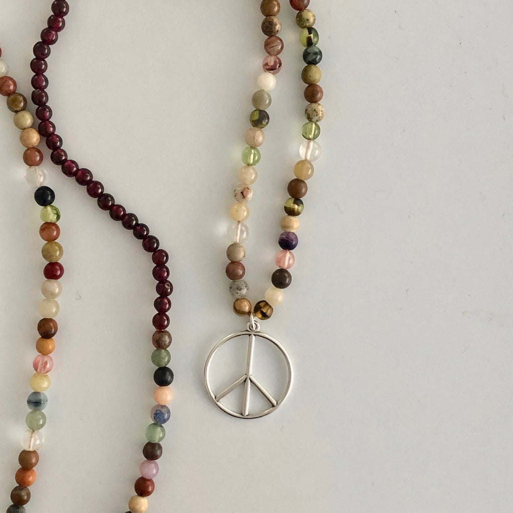 Holy Hippie Bead Peace Necklace