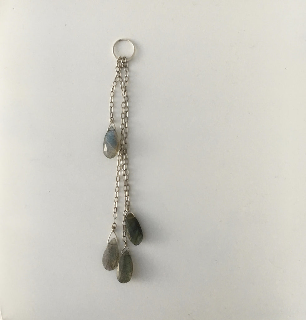 Necklace - Healing Drop Labradorite and Chain