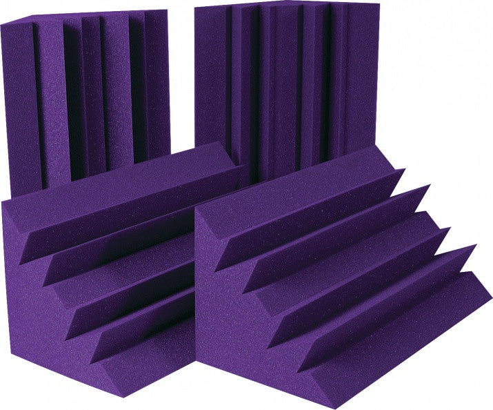 Auralex LENRD Acoustic Foam Bass Traps, Purple LENPUR-HP