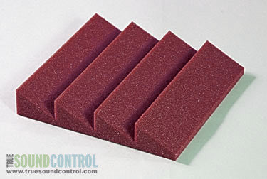 Auralex DST-114 Acoustic Foam Single Panels, Burgundy - CLEARANCE