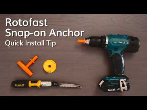 Rotofast Snap-on Anchor Quick Install Tip Video
