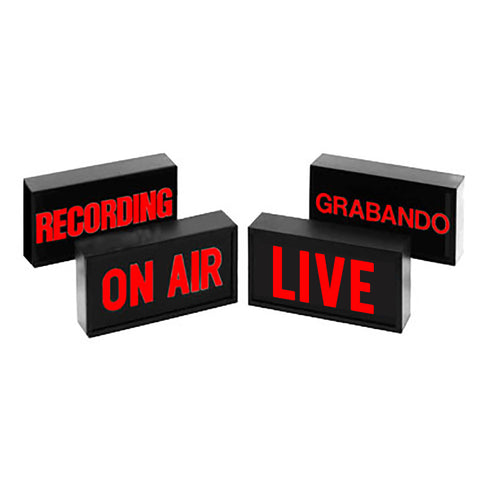 "Sandies 340 Studio Warning Light Sign (LED) - ""ON AIR"" or ""LIVE"""