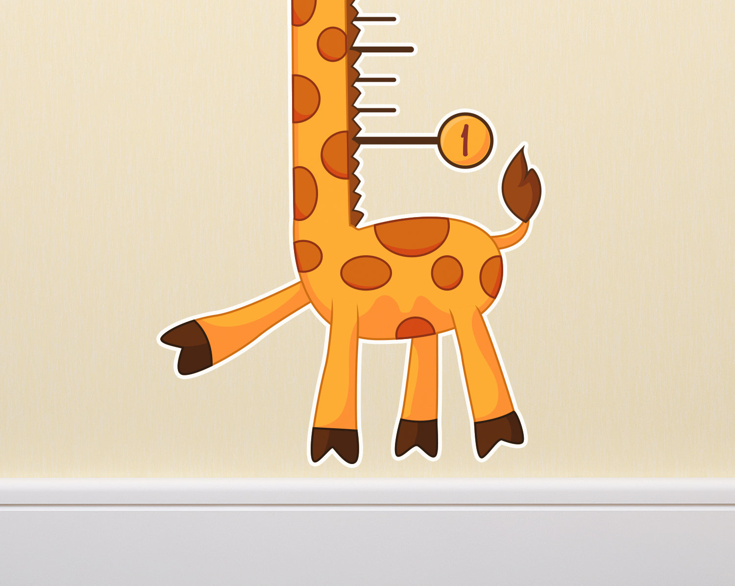 Kids giraffe growth chart wall decal stickerwhale remember every moment with our giraffe themed growth chart geenschuldenfo Image collections