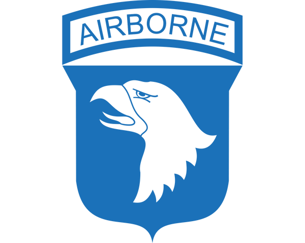101st Airborne Division Vinyl Decal - Sticker Whale  - 1