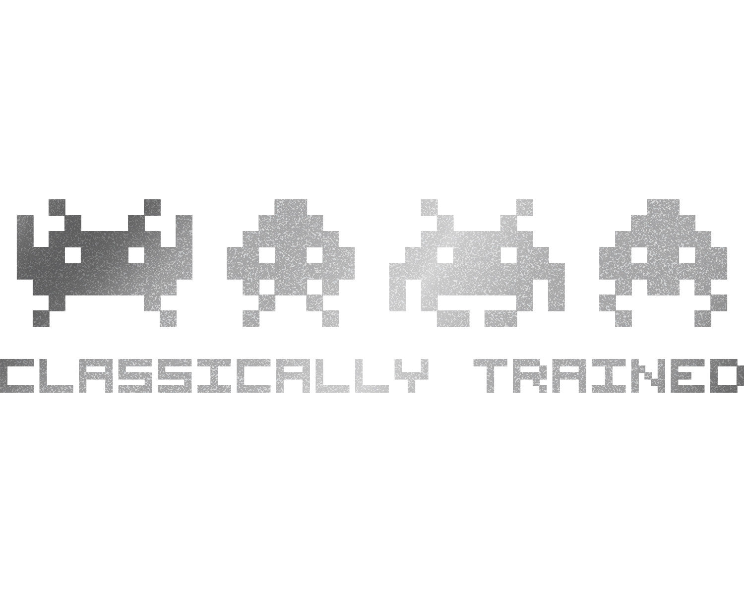 classically trained space invaders decal stickerwhale