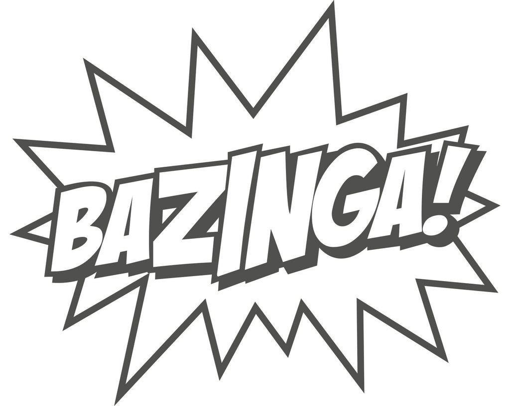 "Big Bang Theory ""BAZINGA!"" Vinyl Decal - Sticker Whale  - 2"