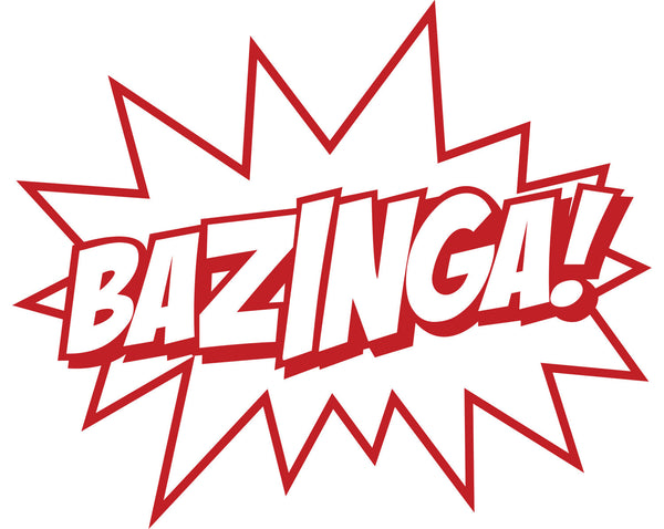"Big Bang Theory ""BAZINGA!"" Vinyl Decal - Sticker Whale  - 1"