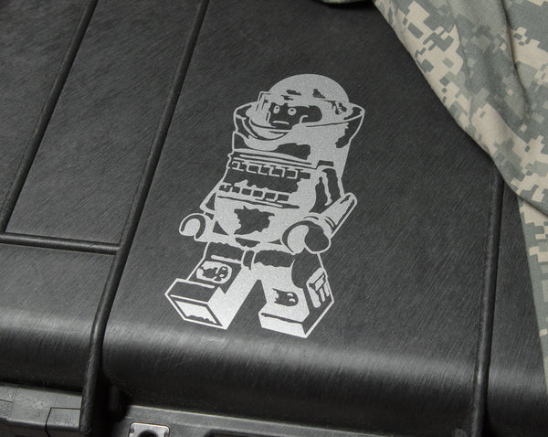 LEGO EOD Bombsuit Minifig Vinyl Decal - Sticker Whale  - 1